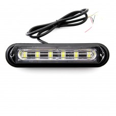 LED BLIXTLJUS 12W ORANGE 12-24V 6LED