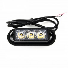 LED BLIXTLJUS ORANGE 12-24V  3LED