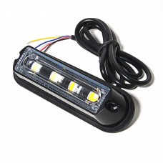 LED BLIXTLJUS ORANGE 12-24V 4LED
