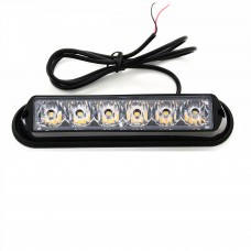LED BLIXTLJUS ORANGE 12-24V 6LED