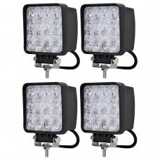 4-Pack 48W LED Arbetsbelysning 9-30V 15200LM